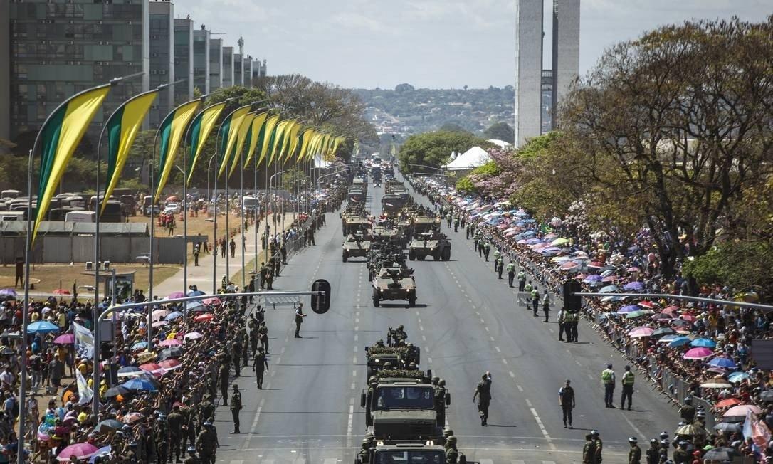 Crise não impede gasto de R$ 971 mil com Desfile de Sete de Setembro