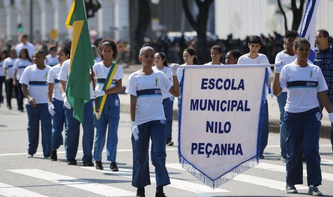 Dia 7 de setembro ficará na memória de crianças de comunidade do Rio