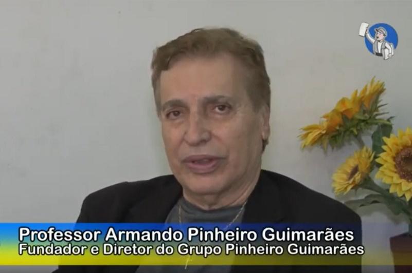 Professor Armando Pinheiro Guimarães em entrevista ao Tribuna na TV