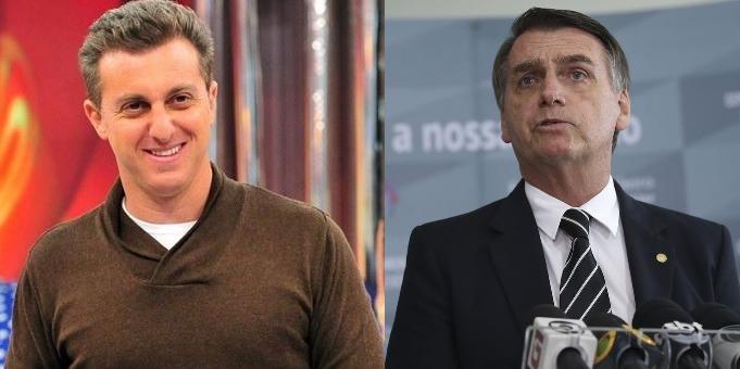 """Bolsonaro volta a criticar Luciano Huck e diz que população não votará em """"pau mandado da Globo"""""""