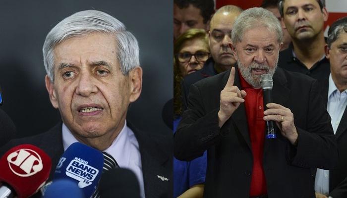 General Heleno diz que discurso de Lula incita a violência, agride instituições e ofende Bolsonaro