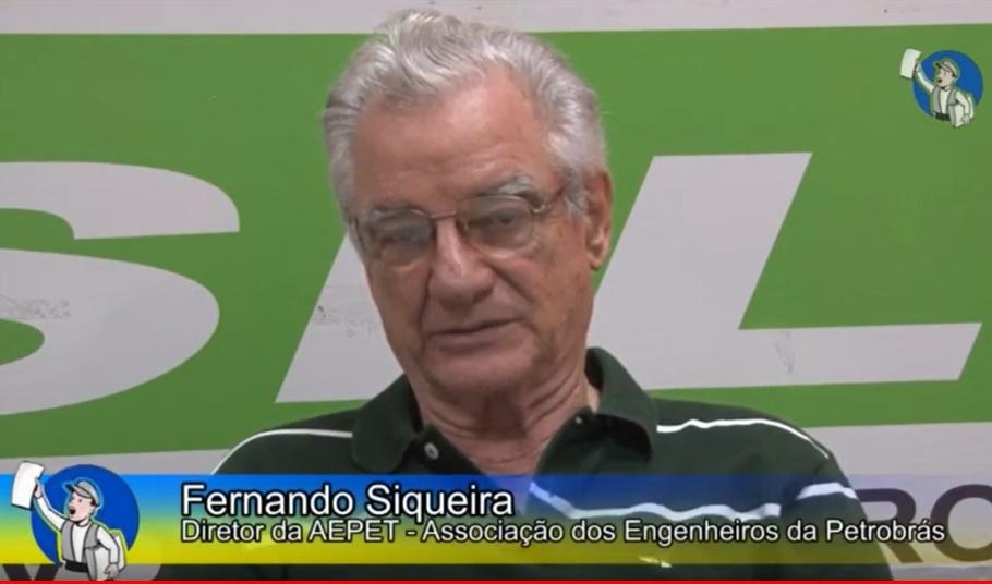 """Fernando Siqueira: """"O megaleilão significa uma perda de US$ 300 bi à economia brasileira"""", em entrevista ao Tribuna na TV"""