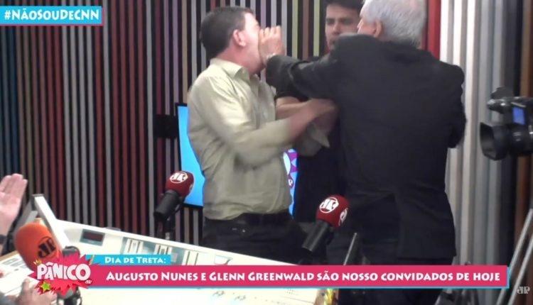Jornalista dá tapas em Glenn Greenwald em debate na Jovem Pan