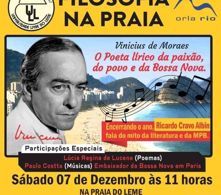 Filosofia na praia: encerramento do ano acadêmico com palestra de Ricardo Cravo Albin
