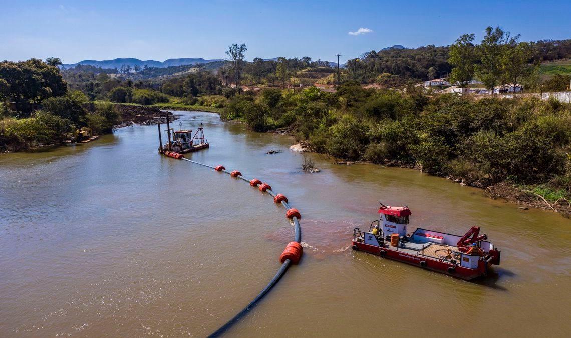 Vale entrega obras que visam reduzir chegada de lama ao Rio Paraopeba