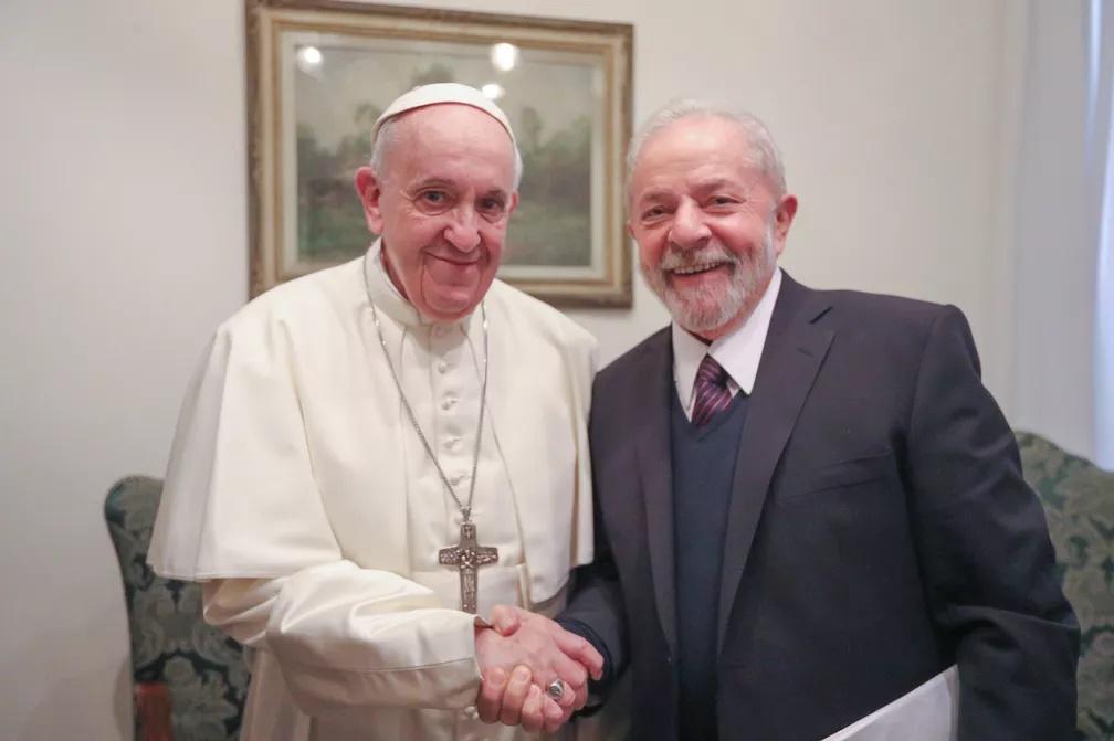 Papa Francisco se reuniu com Lula no Vaticano em audiência privada