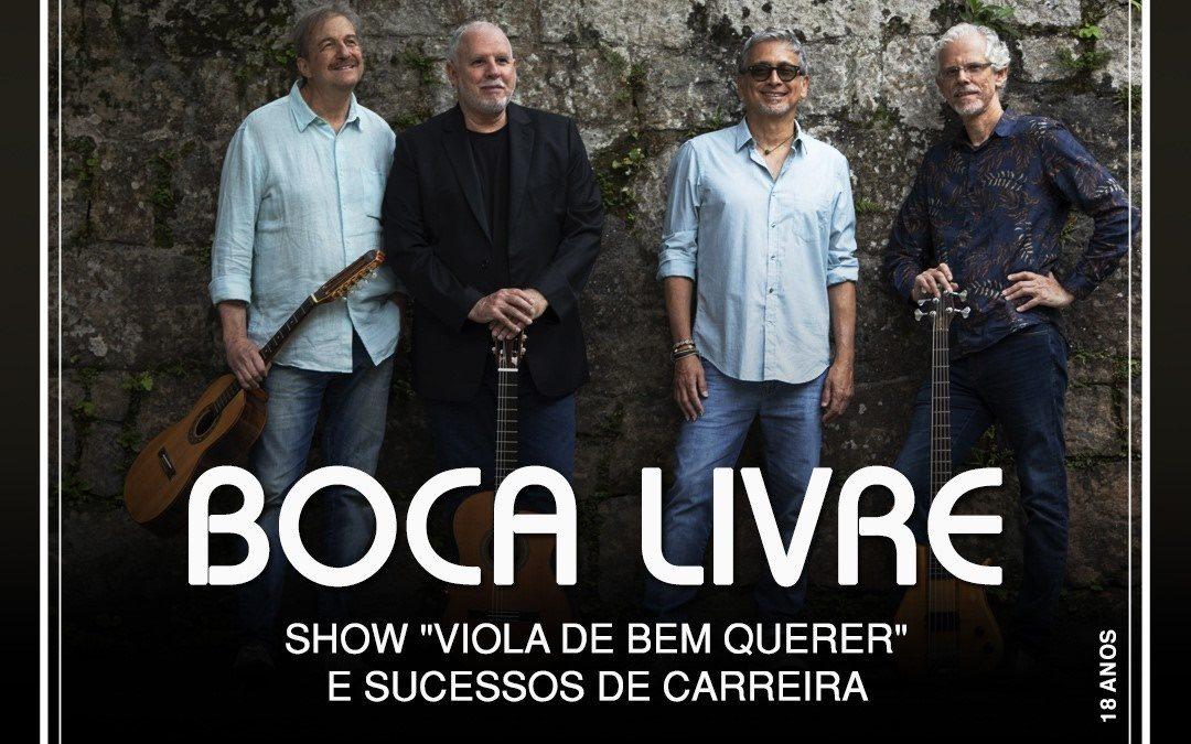 """Boca Livre vai apresentar seu novo trabalho: """"Viola de bem querer"""" no Teatro Rival Refit"""
