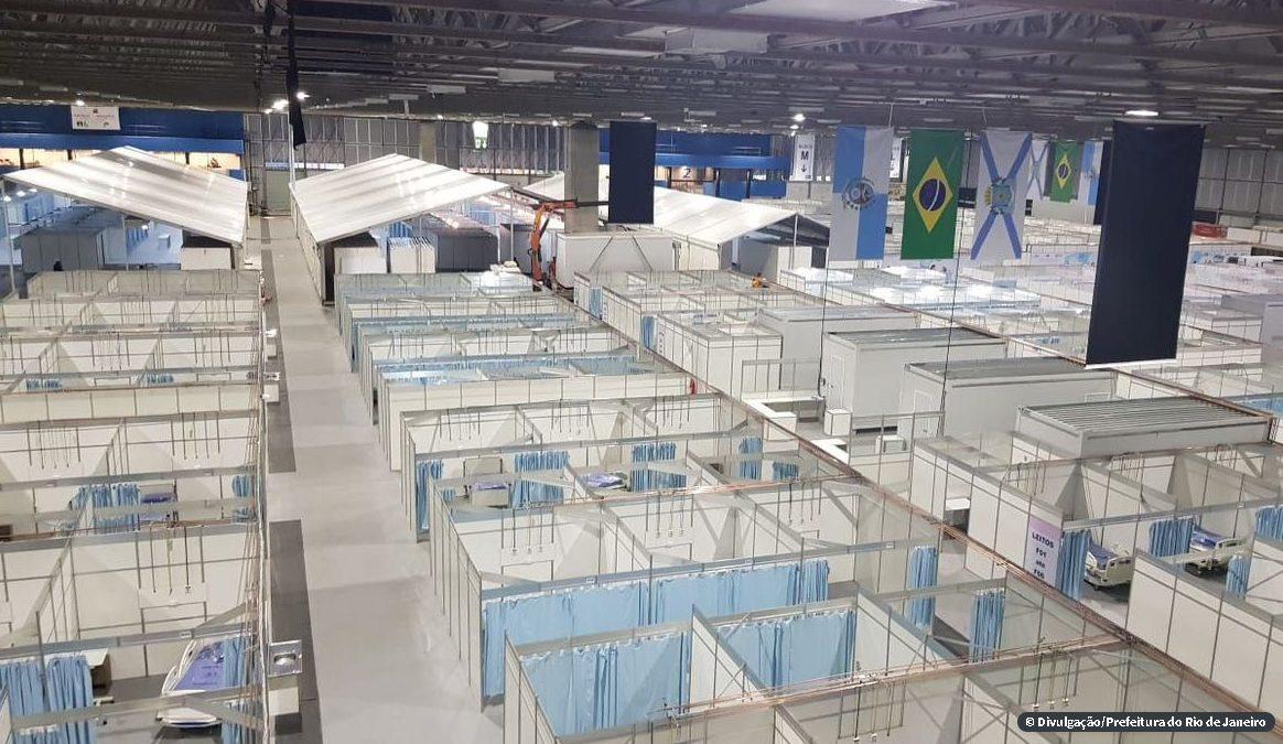Hospital de campanha do Riocentro fica pronto