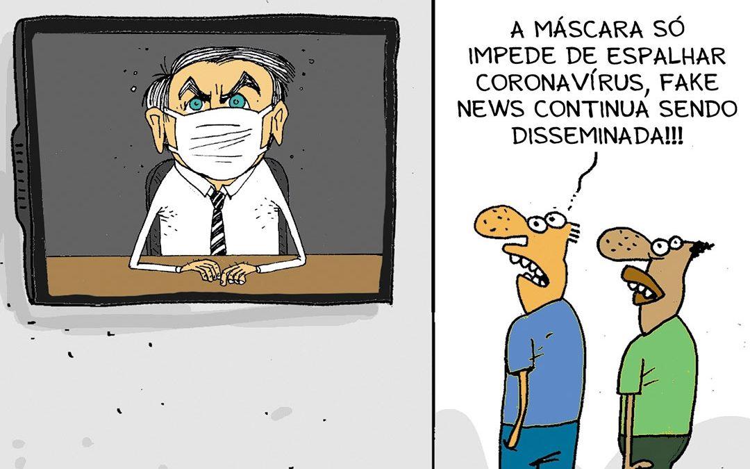 Presidente de CPI diz que agora Bolsonaro cria e divulga fake news sobre ele mesmo