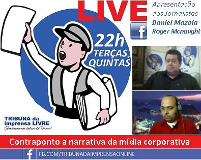 Tribuna LIVE, Terças e Quintas às 22h no Facebook. Sempre um convidado especial!