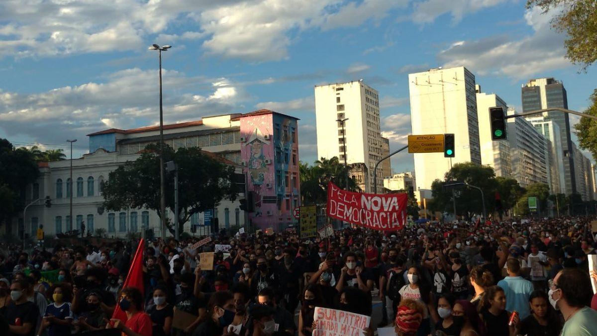 Manifestações contra Bolsonaro e o racismo no Rio de Janeiro