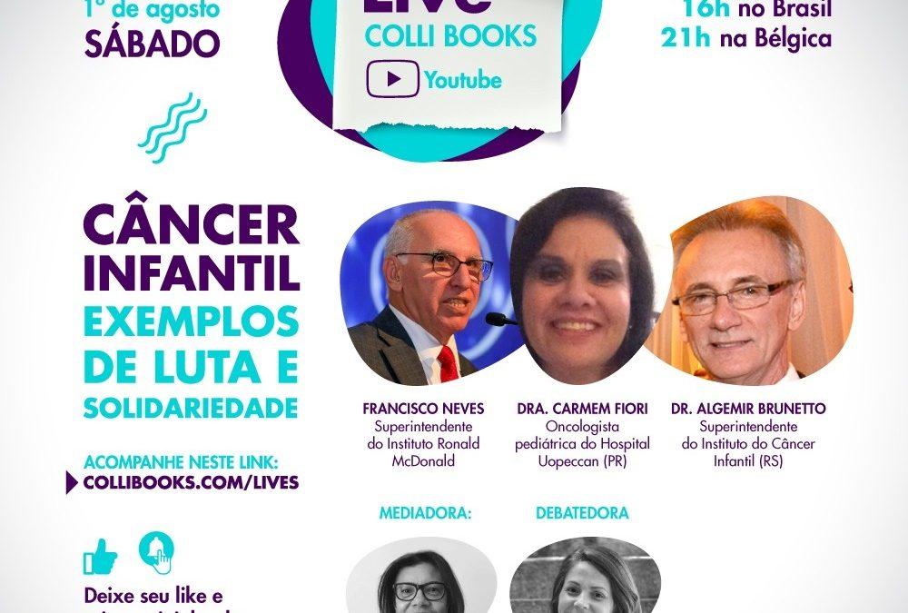Live solidária: Editora realiza debate virtual para ajudar na luta contra o câncer infantil
