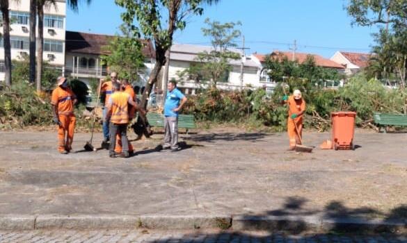 Após denúncias de risco aos moradores, prefeitura corre para não ficar mal na foto