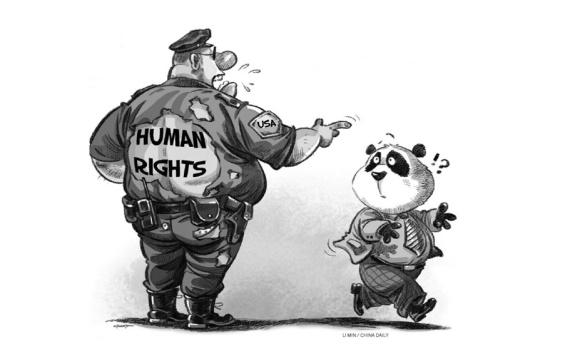 Como os violadores de direitos humanos tem qualificação para acusar a situação dos direitos humanos na China?