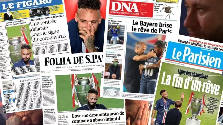 Neymar perde a Champions League, mas marca golaço na mídia