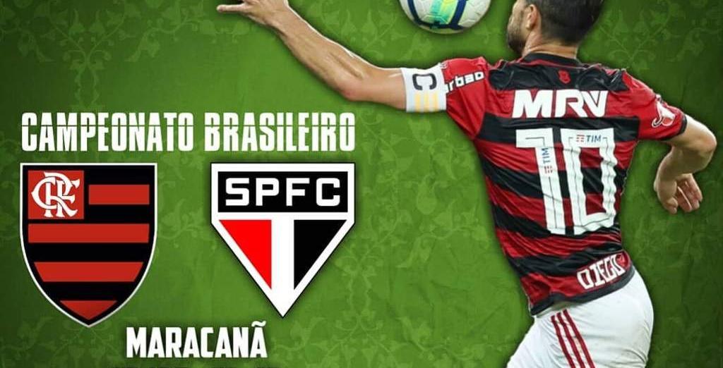 Flamengo x São Paulo na última rodada do turno