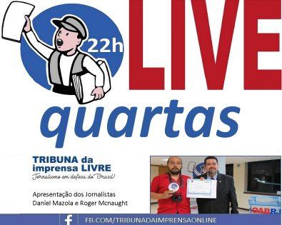 Tribuna LIVE, quarta-feira às 22h no Facebook