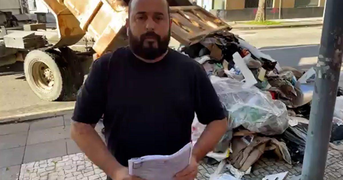 Prefeito de Magé manda despejar lixo em frente ao Instituto do Ambiente do Rio