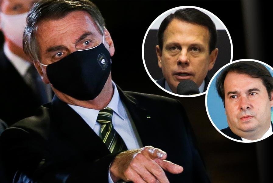 Bolsonaro ataca Doria, o chama de 'moleque' e diz que ele e Maia querem sua cadeira para 'roubar'