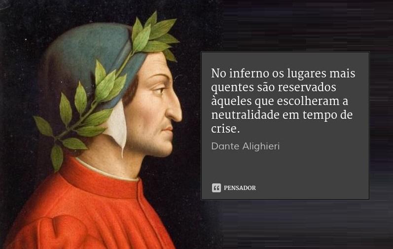 O inferno de Dante é aqui