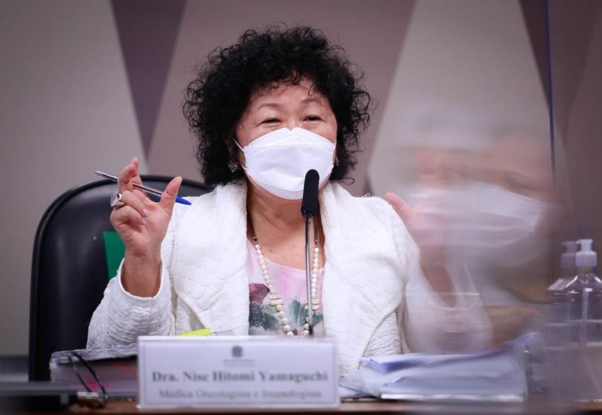 À CPI, Nise Yamaguchi diz não ter sugerido mudança em bula da cloroquina; Novo depoimento de Queiroga ficou para 8 de junho