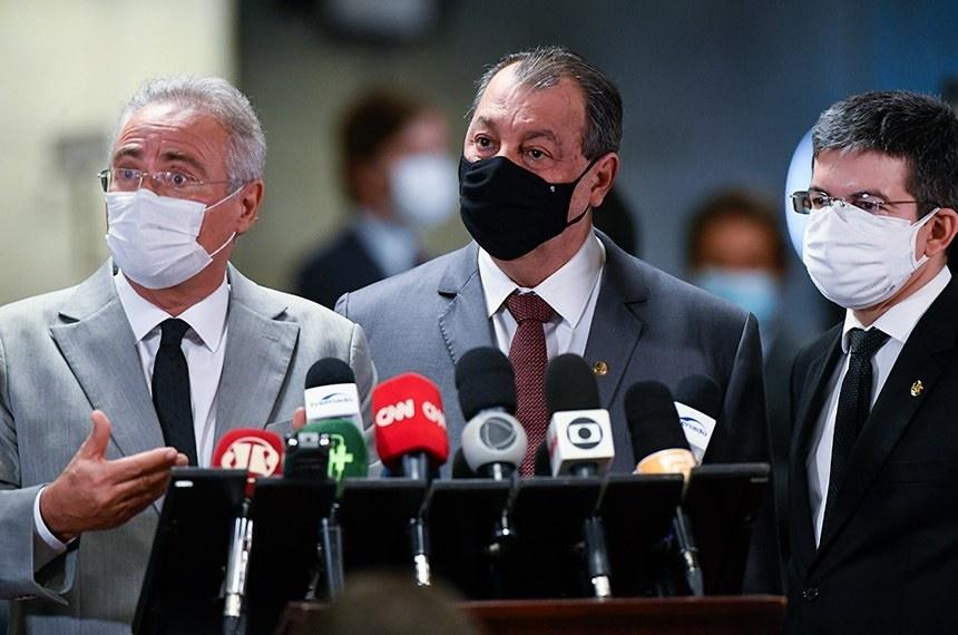 """CPI da Covid terá equipe técnica """"emprestada"""" para investigar fake news; """"A palavra de ordem hoje é se aprofundar nas investigações"""", diz Aziz"""