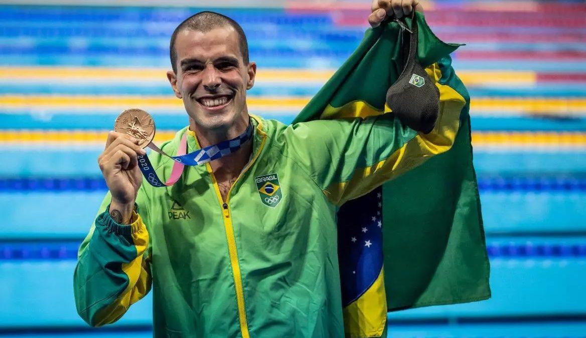 Com duas medalhas de bronze, natação do Brasil chega ao fim nas Olimpíadas de Tóquio